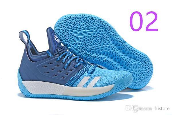 Новая продажа Бесплатная доставка Джеймс Харден Vol 2 баскетбол обувь черный синий белый серый мужская harden vol.2 кроссовки размер US7-11.5 luoutdoor