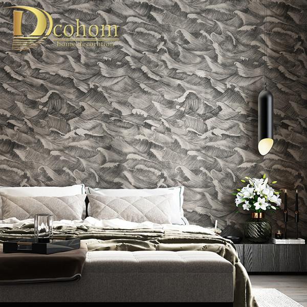 Blackgrey Classic Designer Wallpaper Bedroom Modern Abstract Art Design Wall Paper Rolls Background Coverings Wallpaper Computer Wallpaper Designs