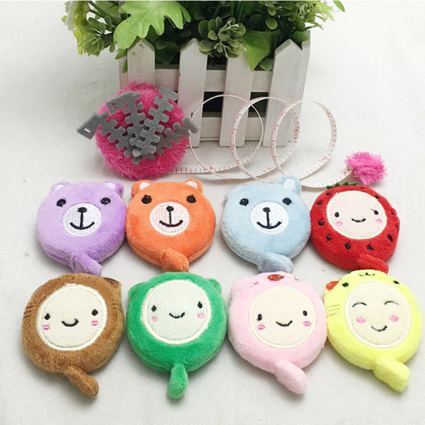 best selling Cartoon Plush Animals Shaped Tape Measures 150cm 60 Inch Measure Ruler Retractable Tape Sewing Tool