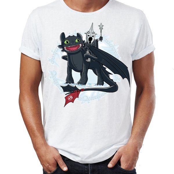 Das T-Shirt der Männer Hexenkönig von zahnlosem Herrn Berks der Ringe lustiges künstlerisches fantastisches Grafik-Druck-T-Stück