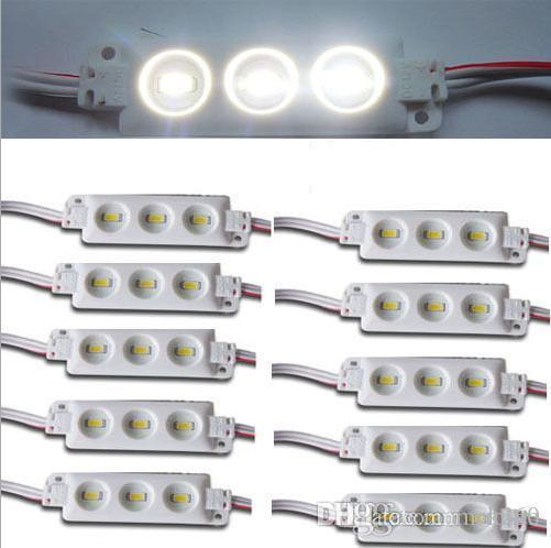 Yüksekliği Parlak 5630 smd enjeksiyon modülü sıcak Beyaz led modülü DC12v 3 cips led ışık modülü su geçirmez sert bar reklam panosu