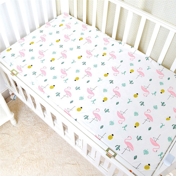 Baby Bed Sheet Crib Sheet Cartoon Animal Printed Colchon Toddler Cot Cover 100% Cotton High Quality Baby Bedding Sets