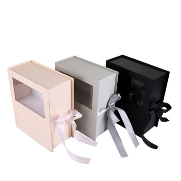 Small Fresh Literary Packaging Gift Box High-End Gift Flower Box Wedding Engagement Celebration Packing Modern Style