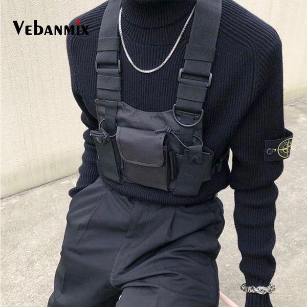 Mode Nylon Poitrine Rig Sac Noir Gilet Hip Hop Streetwear Fonctionnel Harnais Tactique Poitrine Rig Kanye West Wist Pack Poitrine Sac J190721