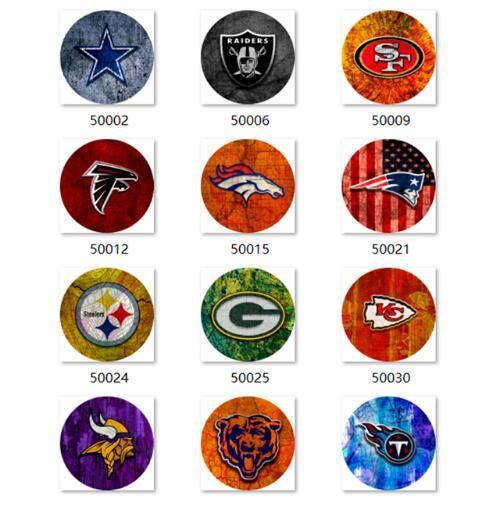 Free shipping Football Snap button Jewelry Charm Football glass snap button photo print Phone Holder GS9899 jewelry making DIY
