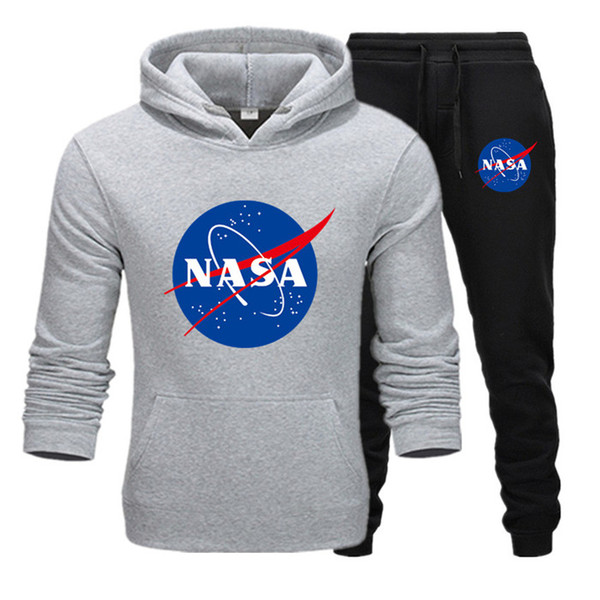 Fashion Designer NASA Tracksuit Spring Autumn Casual Unisex Brand Sportswear Mens Track Suits High Quality Hoodies Mens Clothing T6