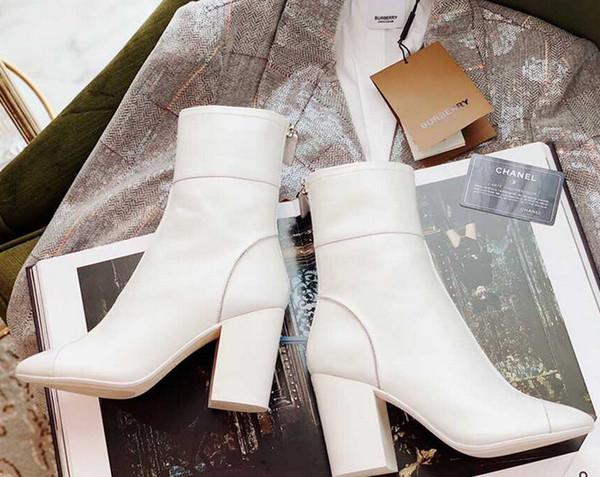 2019 моды простой классический атмосфера осенью и зимой MS обувь Женские сапоги дымоход Сплошной цвет