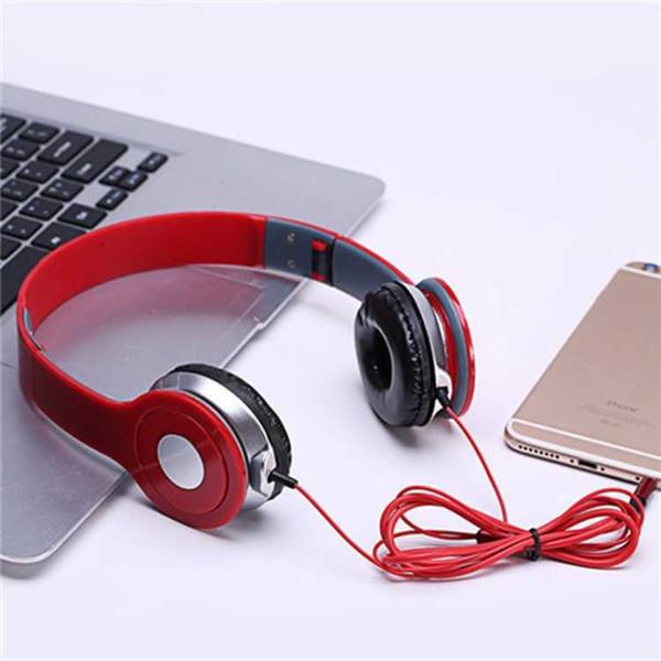 Faltbarer Stereo-Kabelkopfhörer mit Mikrofon 3,5-mm-Gaming-Headset Einstellbarer Subwoofer-Kopfhörer Computer-Stirnband-Headsets Sonderangebot