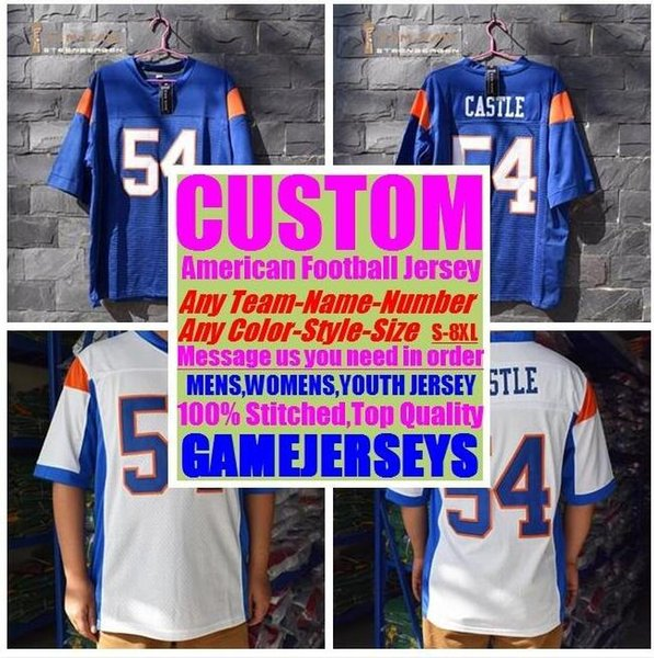 top popular 2019 Personalized american football jerseys College cheap authentic baseball sports jersey stitched mens womens youth kids 4xl 5xl 6xl 7xl 2019