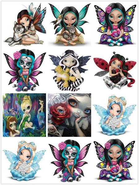 Pittura di diamante popolare di Diy 5D Fumetto Big Eye Girl Diamante Mosaico Vendita 5D Diamante Ricamo Set completo di immagini di strass