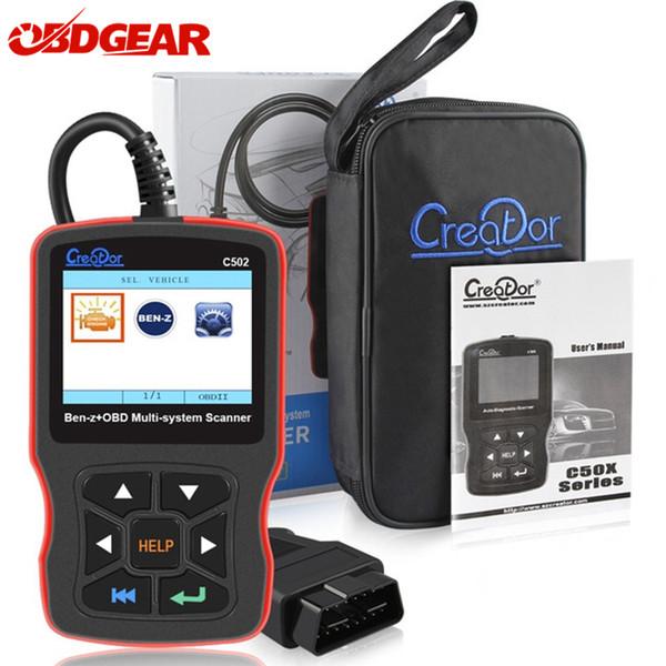 Creator C502 Car OBD2 Diagnostic Tool Support Engine Transmission Service Light Reset For Mercedes benz OBD2 Code Scanner