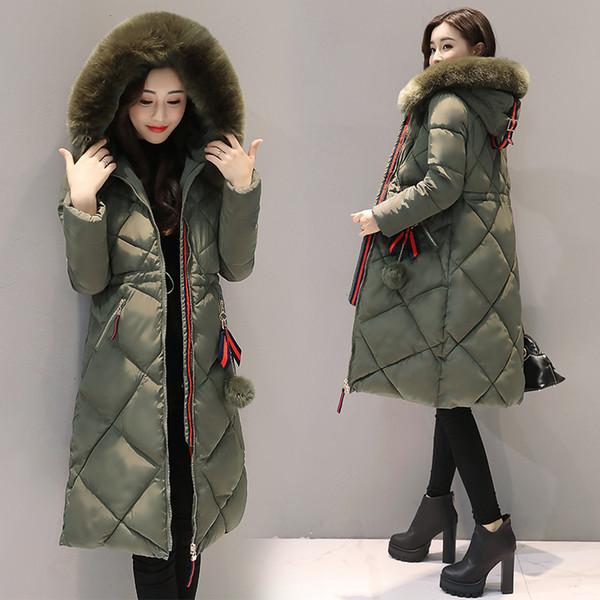 SNOW PINNACLE Women Parkas Winter jacket Warm Thicken Long Hooded Cotton Padded Parkas Causal Female Big Fur Jacket Coat M-3XL