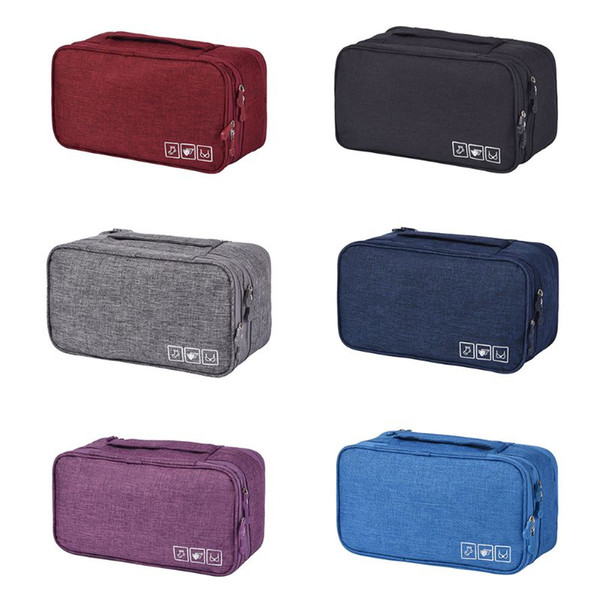 Compact Bra Underwear Organizer Packing Travel Toiletry Bag Case for Women
