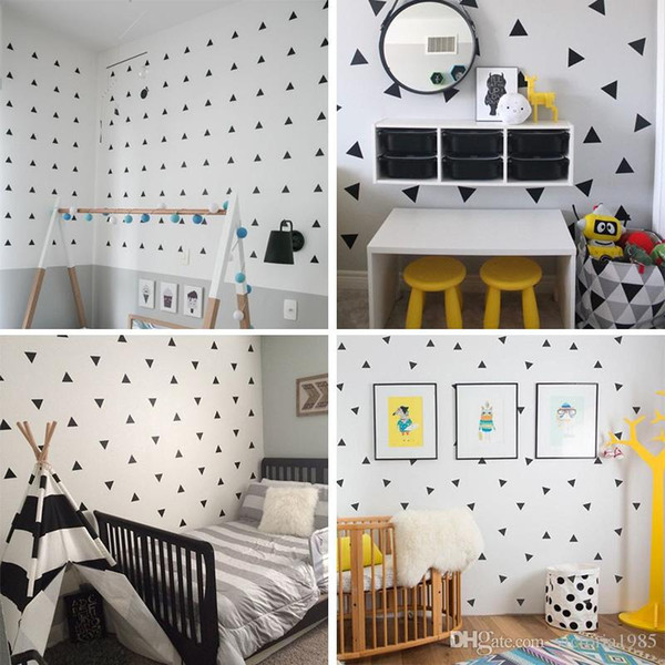 Baby Boy Room Little Triangles 4*4cm (42 dots)Wall Sticker For Kids Room Decorative Stickers Children Bedroom Nursery Wall Decal Stickers