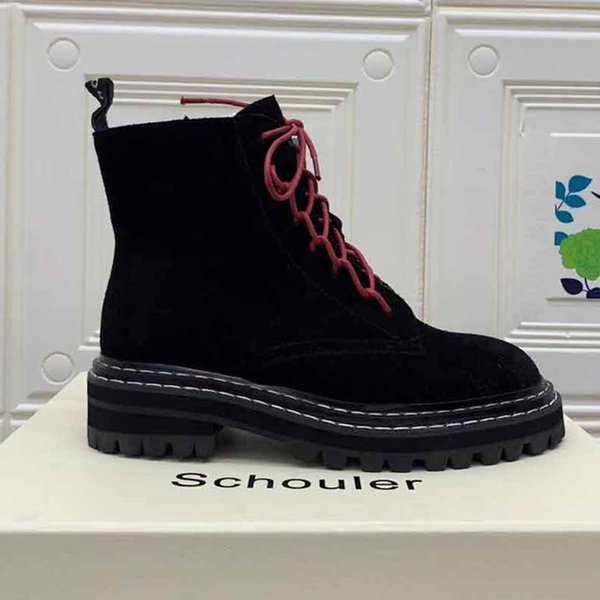 Martin ShoesProenz.Schoule 2018 Genuine Motorcycle Shoes Female Leather High To Help Warm Snow Boots Casual Training Horse Nail Boots Ladies