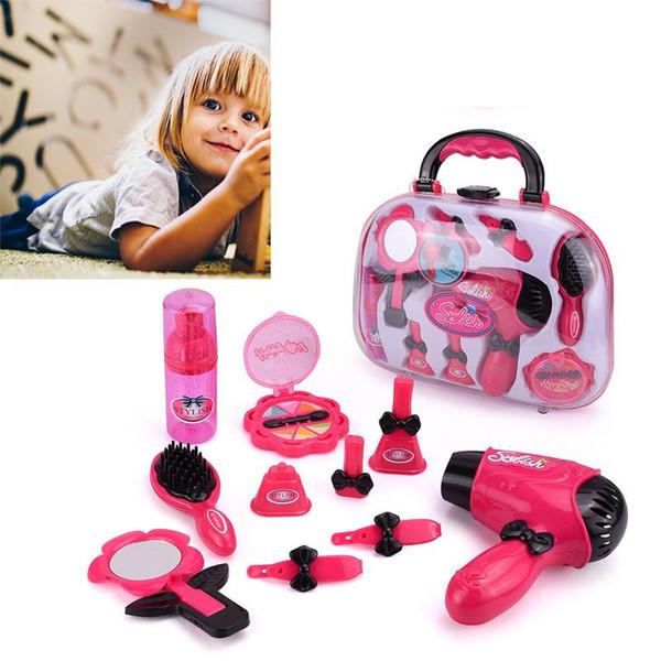 Mädchen Bilden Set Spielzeug Pretend Play Simulation Kosmetiktasche Schönheit Friseursalon Spielzeug Makeup Tools Kit Kinder Pretend Play Spielzeug