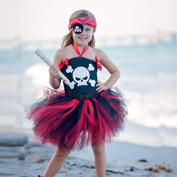 Pirate Girl Dress Up Cosplay Costume For Kids Fantasia Halloween Party Dresses Children Clothing Fancy Sleeping Beauty Dress XXL