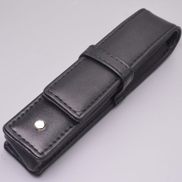 Wholesale Black PU Leather MB Pen Case Stationery Office High Quality Pen Pouch Brand Set Gift Pencil Bag