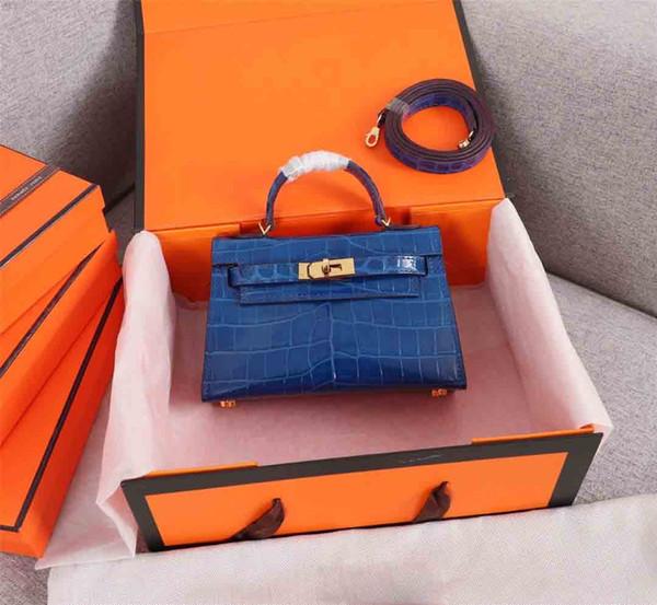 top popular Classic Designer Women Handbags Shoulder Bags Tote Purse Shoulder Mini Strap Crossbody Bag High Quality Alligator Leather Women Handbag 19cm 2019