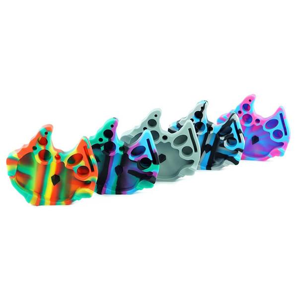 123 * 130 * 30mm plateau porte-cendrier en silicone cendrier unique pour Bureau Tabletop Belle Craft Décoration Accessoires fumeurs colorés Pa