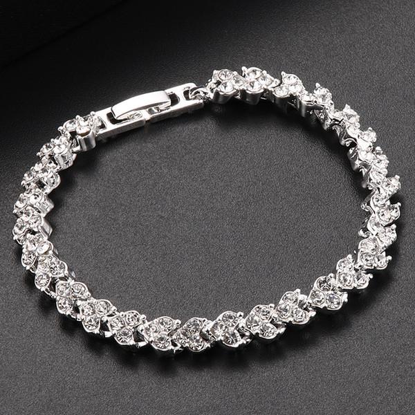 3-colour fashion jewelry popular diamond-inlaid diamond Roman women Bracelet wholesale