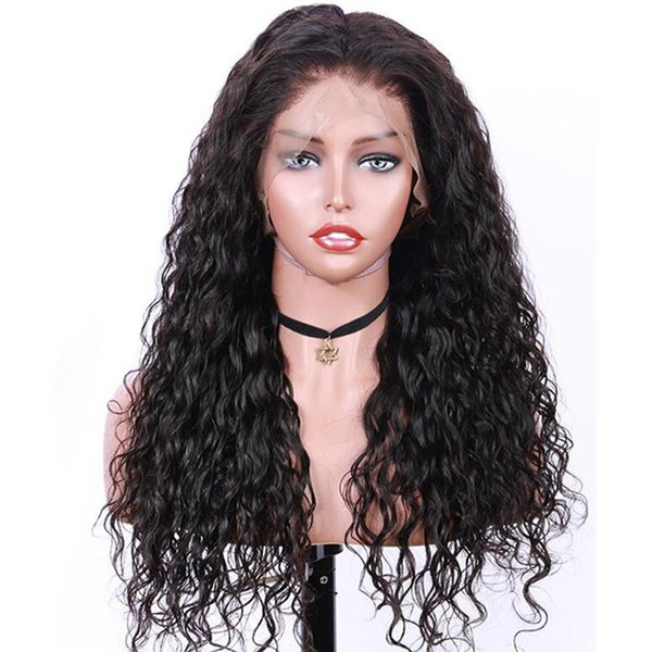 Malaysian virgin Human full lace Hair Wigs kinky curly with Baby Hair pre plucked Lace Front Wigs For Black women with natural hairline