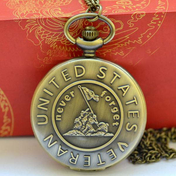 Fob relógio de bolso do vintage numerais romanos relógio de quartzo relógio com corrente de jóias antigas pingente de colar de presentes preto