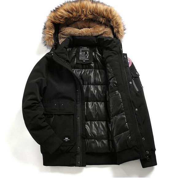 Großhandel Parkas Von Mit Warme Usa Winter Marke Mantel Lässig Herren Mode Kapuze Daunenjacke Kanada Damen Reißverschluss Outdoor Feder D2EeWH9IY