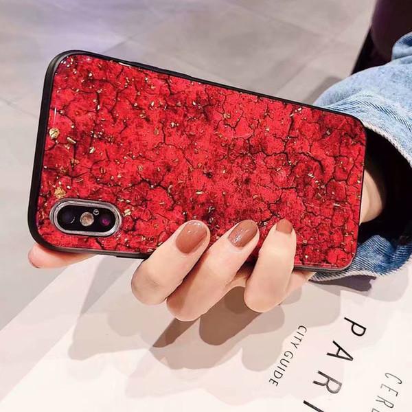 Funda de mármol de lujo para iPhone X Fundas con purpurina Bling para iPhone 7 6 6S 8 Plus XR XS Funda de silicona suave
