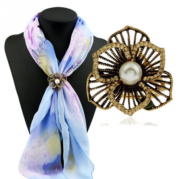Hot New Delicate Vintage Zinc Alloy Scarf Buckle Clip Women Lady Jewelry Accessory Gift