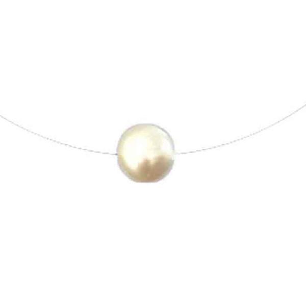Semplice design invisibile linea di pesca simulato perla collana pendente choker per le donne ragazza gioielli regalo