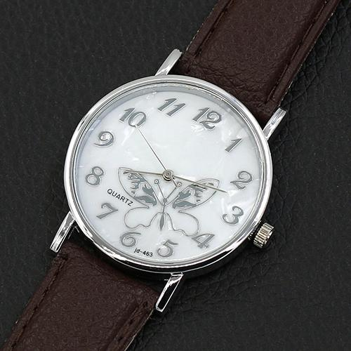 High Quality Women's Girls' Butterfly Arabic Numbers Dial Marbling Analog Quartz Wrist Watch 8jvp