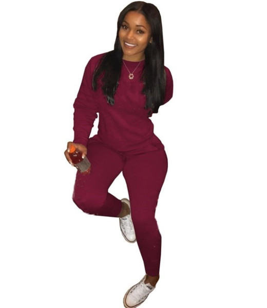 Designer Women clothes long sleeve outfits two piece set pullover sweatshirts tracksuit jogging sport suit sweatshit tights sport suit klw2