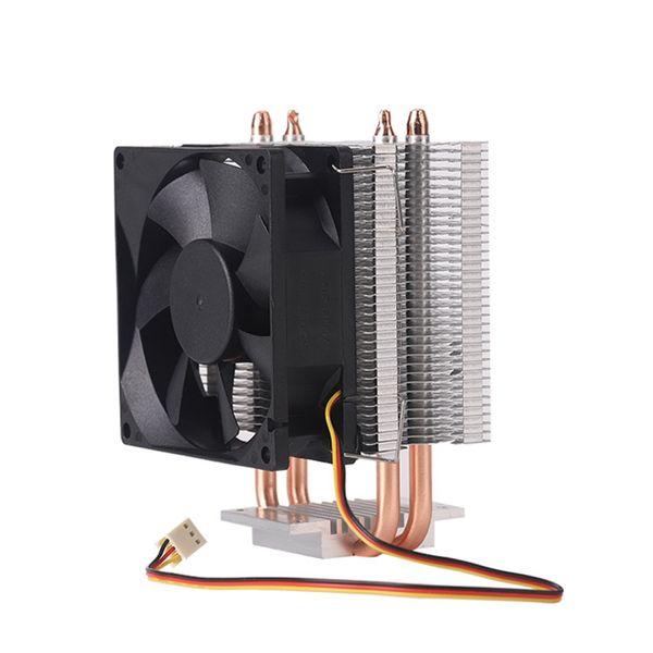 8Cm 2 Heat Pipe 3 Pin Single Fan Without Light Cpu Fan Cpu Heatsink For Intel 775/1150/1155/1156/1366 For Adm All