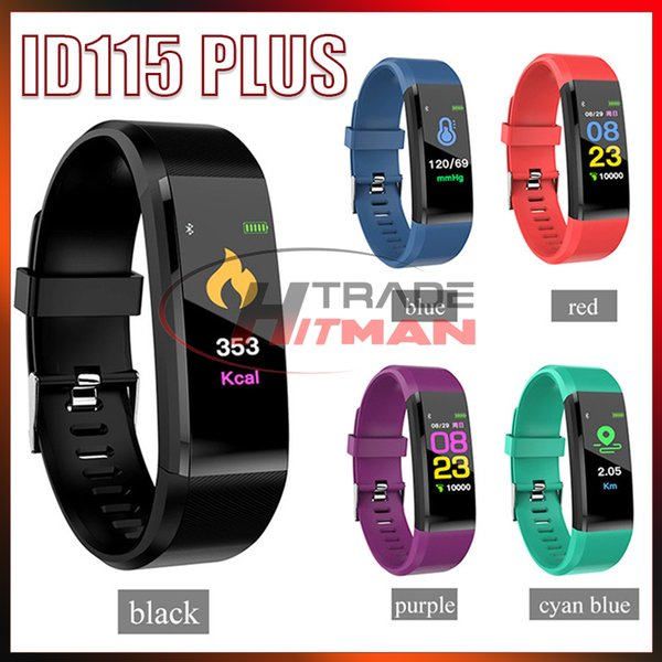 ID115 Plus Smart Bracelet Fitness Tracker Smart Watch Heart Rate Watchband Smart Wristband For Apple Android Cellphones Fitbit