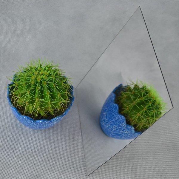 (35pcs / lot) Feuille de miroir acrylique de forme arbitraire personnalisée de forme 300x400x2mm PMMA Pier verre décoratif en plastique et nous pouvons en faire la vérification
