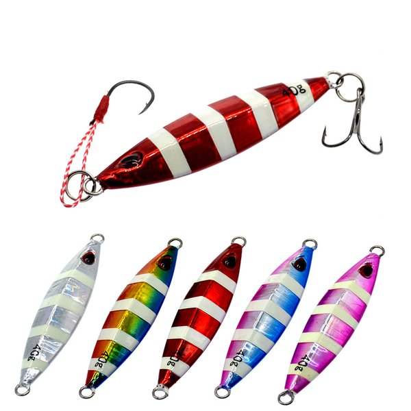 Fishing Lure Glow Jigbait Seawater Fishing Bait 40g 7.5cm Jigging Artificial Lures Ocean Boat Fishing Tackle