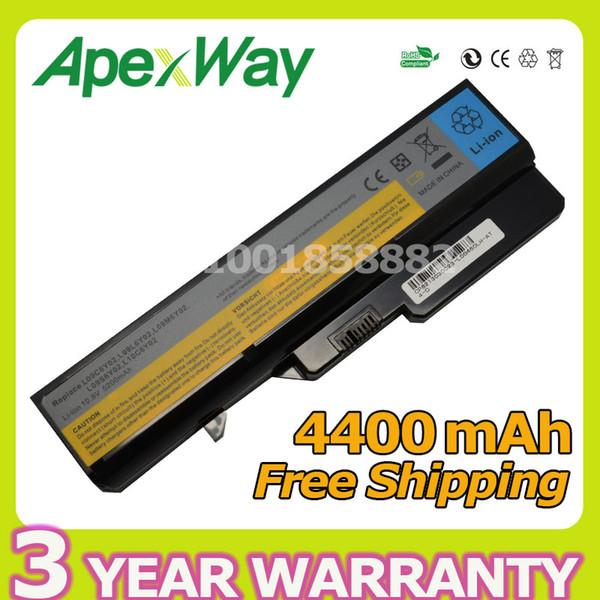 Batteria per computer portatile Apexway 11.1V per Lenovo L09S6Y02 LO9L6Y02 per IdeaPad G460 G465 G470 G475 G560 G560 G575 G570 G575 G770 Z460