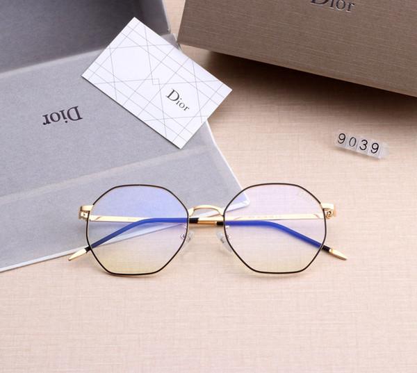 [Con la caja] Cristal Hombres Mujeres luz azul Lentes Claro deporte de la lente gafas de sol para hombre para mujer de lentes Lentes de gafas de sol Sun Ojo SGC082