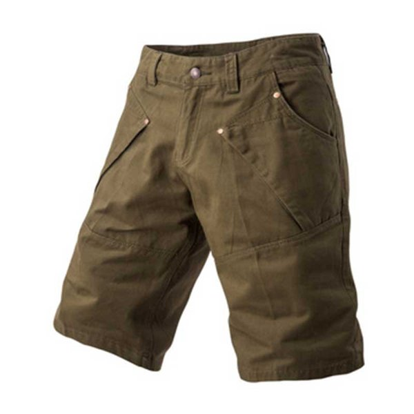 Tallas grandes pantalones cortos de carga para hombre de color sólido casual bolsillos múltiples tácticos pantalones cortos Bermuda Masculina