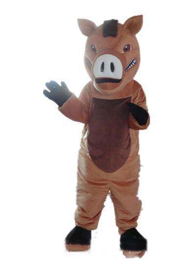 2019 High quality Good vision and good Ventilation a brown boar mascot costume with big nose for adult to wear