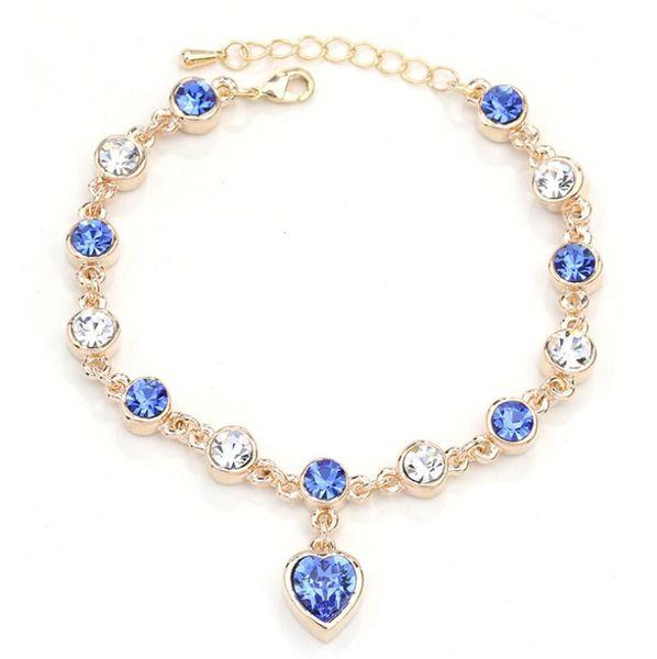 16 styles Austrian crystal full diamond bracelet Silver plated birthstone Crystal jewelry Optional multicolor Crystal Bracelet maxi statemet