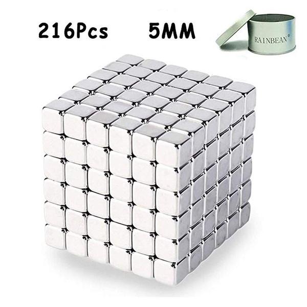 216Pcs Cube Magnets,Magnetic Sculpture Puzzle Fidget,Building Blocks Gadget Toys for Stress Relief,Educational Toys for Adult