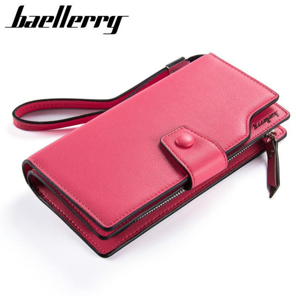 Famous Brand Leather Women Wallets Fashion Zipper&Hasp Lady Wallet Female Coin Purse Big Capacity Phone Bag Girls Long Wallets