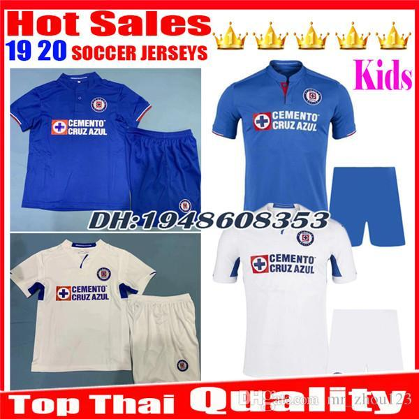 9c8207c22bf Kids 2019 2020 Mexico club Liga MX CDSC Cruz Azul Soccer jersey Children 19  20 home
