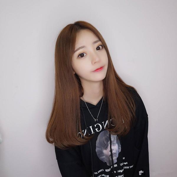 Spot hot European and American fashion long hair wig headgear soft sister Korean wig female long straight hair