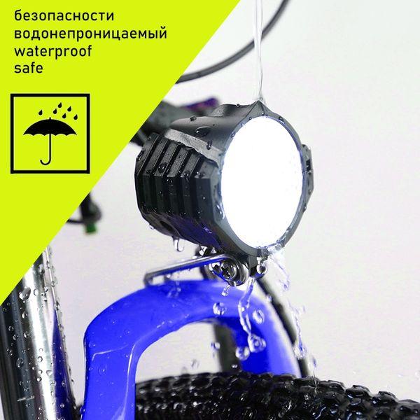 Pacchetto UE, accessori per bicicletta elettrica / Faro LED per bicicletta elettrica 12W 36V 48V 72V luce impermeabile universale # 716652