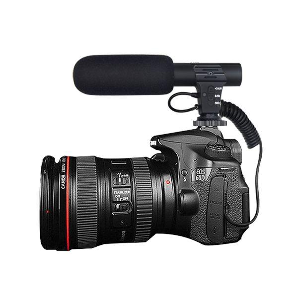 Mikrofon SLR DSLR Kamera Mikrofon Flexible 3,5 mm Digital Talk Video Aufnahme Interview Hifi HD Sound Mini Mic