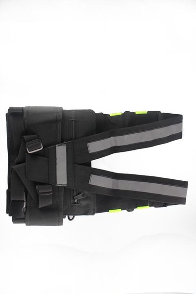 Yellow Reflective TYT Radio Tactical Harness Front Pack Vest Chest Bag Pouch For Walkie Talkie for survival hiking cycling etc