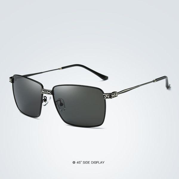 Chaude De Mode Hommes Lunettes De Soleil Polarisées Classique Lunettes Métal Cadre Lunettes De Pêche HD Eyewear Conduite Oculos De Sol E215